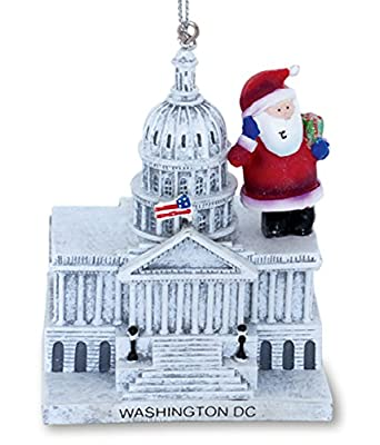 Santa Claus at US Capitol Building Washington DC Christmas Holiday Ornament