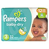Pampers Baby-Dry Disposable Diapers Size 3, 32 Count, JUMBO