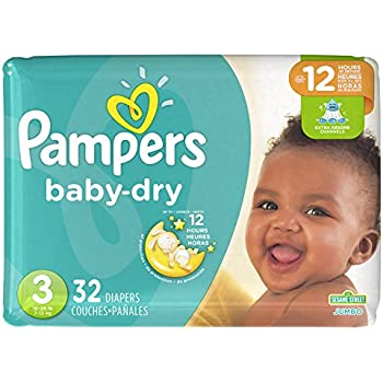 Pampers Baby Dry Diapers Size 3, 32 Count