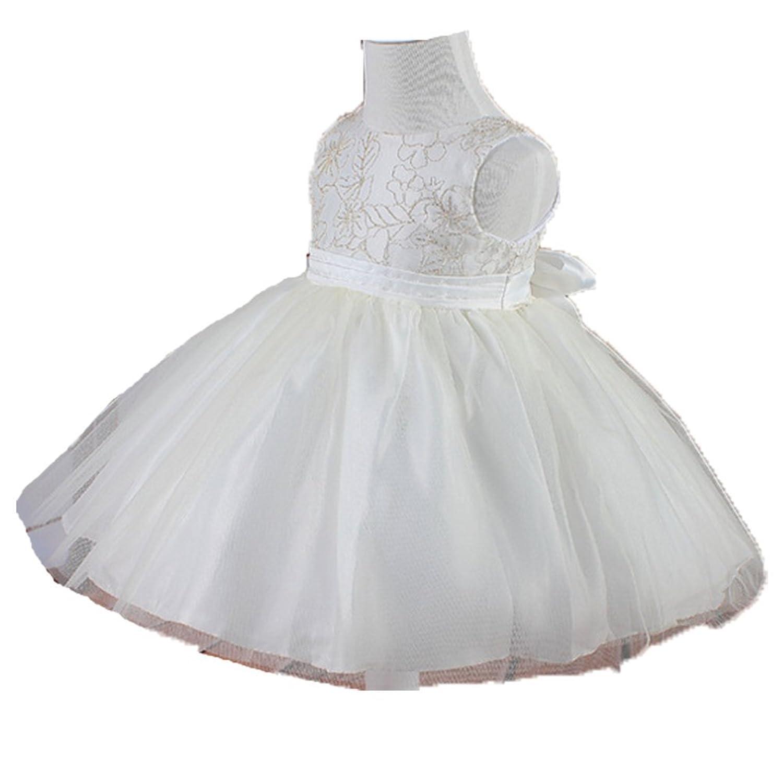 874caff3165 OHmais Enfant Fille Princesse Robe tutu en dentelle Robe de Mariage Soirée  Anniversaire Cérémonie