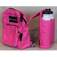 Pink Horn Pommel Bag Saddle Trail Riding With 2 Water Bottles