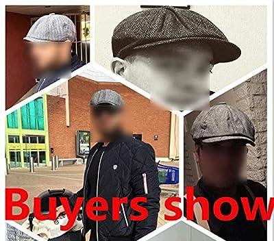 ExpertS Hats Tweed Newsboy Cap Men Spring Autumn Hat Golf Driving Flat Cap hat