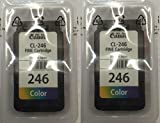 Best Apple Animation Software - GENUINE 2 Pack of Canon CL 246 Color Review