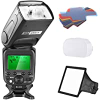 Neewer 2.4G Wireless 1/8000s HSS TTL Master Slave Flash Speedlite Kit for Sony A7 A7R A7S A7II A7RII A7SII A6000 A6300 Cameras,Includes:NW630 Flash,Hard/Soft Diffuser,20 Pieces Color Filter