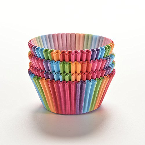 Yosoo Colorful Rainbow Baking Muffin