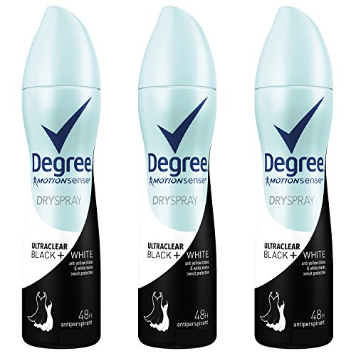 tiperspirant Deodorant Dry Spray, Black + White, 3.8 oz (Pack of 3) (Degree Anti Perspirant Spray)