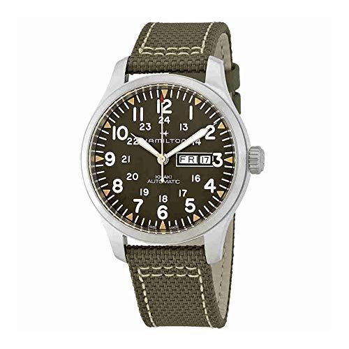 Hamilton Men's Khaki Field Day Date Auto - H70535081 Gray/Green One Size -