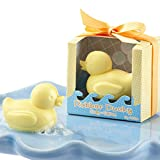 AiXiAng 24 Pcs Cutest Duck Gift Soap Favors for Rubber Ducky Theme Baby Shower Favors