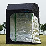 Cheap New Generation! Quictent 48″x48″x71″/120x120x180cm Mylar Hydroponic Grow Tent Roof Cube Shape Dark Room for Indoor Plant Growing