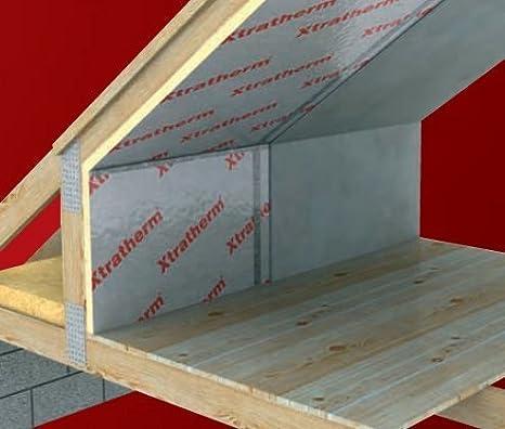 75 mm Xtratherm sensor de movimiento de alto rendimiento de aislamiento de espuma rígida hoja techo o suelo: Amazon.es: Bricolaje y herramientas