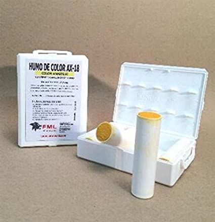 HUMO DE COLOR AX-18 AMARILLO (caja con 5 cartuchos): Amazon.com.mx ...