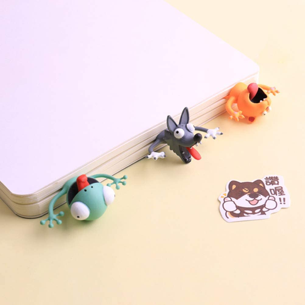 Tianbi Simpatici Segnalibri Simpatici Segnalibri per Cartoni Animati in 3D Animali Che Leggono Segnalibri per Studenti Cancelleria per Ufficio Regalo Creativo Ideale per Ragazzi E