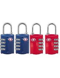 TSA Lock for Luggage 4 Digit CombinationTSA Approved Locks 4 Pack
