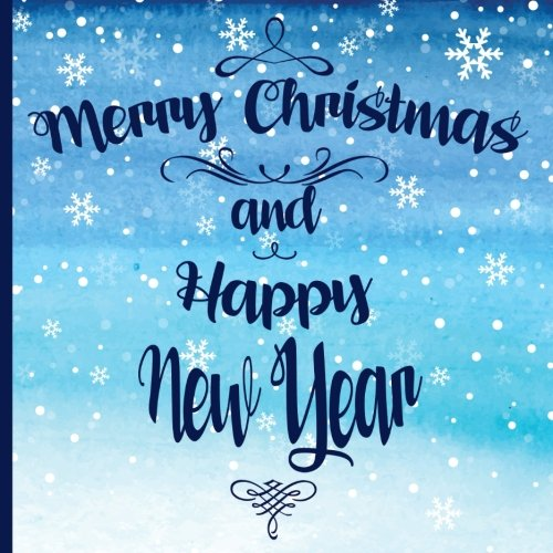 Merry Christmas and Happy New Year: Watercolor Snowing, Guest Book Christmas Party 8.5x8.5 (21.5x21x5 cm), Christmas Guest Book Sign in, Matter Cover (Christmas Eve Guest Book) (Volume -