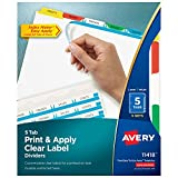 Index Maker(R) Print & Apply Clear Label Dividers