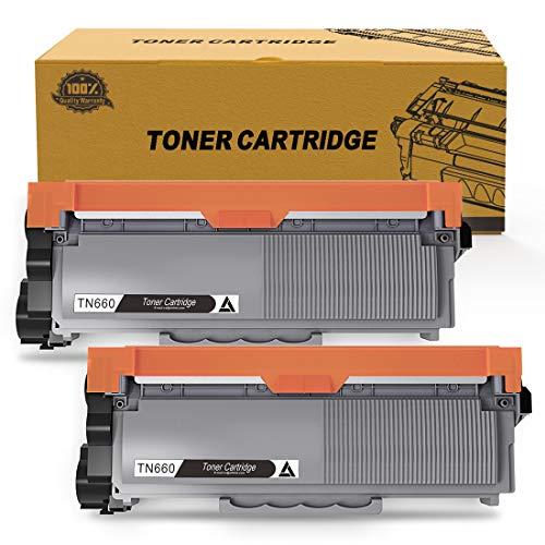 Toner Kingdom Compatible Toner Cartridge Replacement for Brother TN660 TN630 TN-660 TN-630 (Black, 2-Pack)
