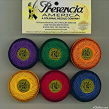 """Presencia Finca Perle Cotton Thread Sampler Pack, Size 5 (10 gram) - for sashiko, embroidery, and quilting - """"JEWEL"""" Collection"""