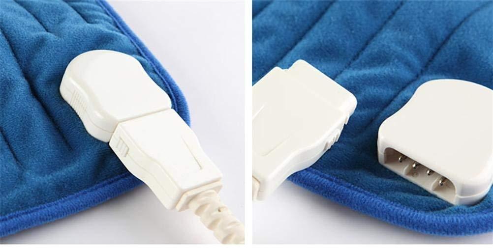 Tapis bleu 30  40cm XCJ Coussin Chauffant pour soulager Rapidement la Douleur grÂce à la Technologie de Chauffage Rapide, 3 réglages de température, Tapis Rouge 30  40Cm