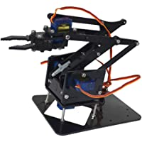 Baoblaze 4 Degree of Freedom Tank Robot Mechanical Arm with 4 Servos for Arduino 51 Robotics Learning Manipulator DIY Model Set for Students Study