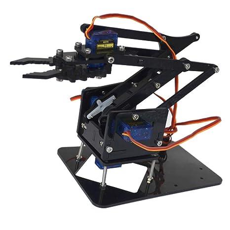 Amazon Com Baoblaze 4 Degree Of Freedom Tank Robot Mechanical Arm