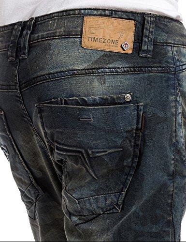 Timezone OskarTZ 3D-Vaqueros Hombre, Bleu (printed Camo Wash 3818)