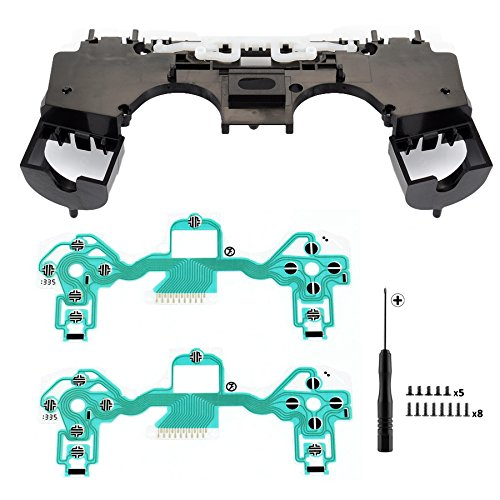 Repair Part Transparent Holder Middle Bracket Motherboard Holder Ribbon Circuit Board Film Pad for PlayStation 4 PS4 Controller JDS-011 Screwdriver Tools