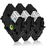 3 Pack Compatible Brother P-touch Label Tape 12mm 0.47 inch, Ptouch Label Maker Tape TZ TZe 231 TZ-231 TZe-231 Black on White,p-touch labeler PT-H100 PT-D210 PT-H110 PT-D400AD PT-D600,