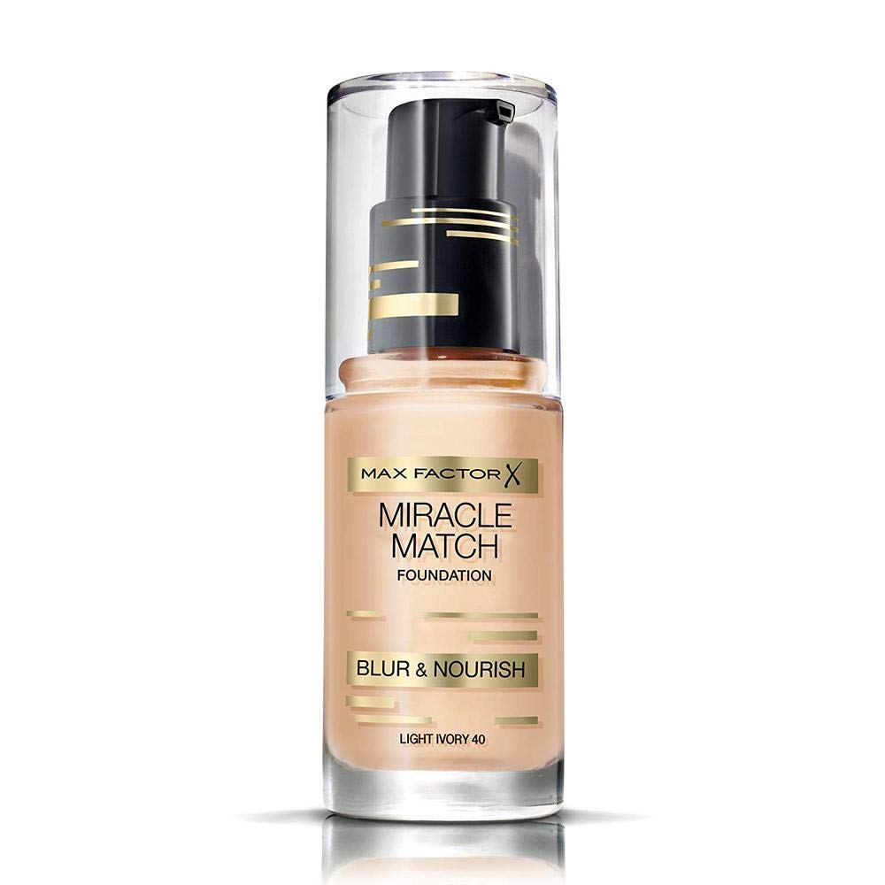 Max Factor Miracle Match Foundation, No. 40 Light Ivory