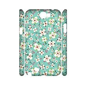 Retro Floral Series Unique Design 3D Cover Case for Samsung Galaxy Note 2 N7100,custom cover case ygtg599303