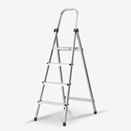 Xsgsgfs Escaleras Plegables peldaños, 4-Paso Escalera de Aluminio, Plegable escaleras de Tijera, Escalera telescópica Cocina con peldaños Antideslizantes, 150 kg Capacidad de Carga: Amazon.es: Hogar