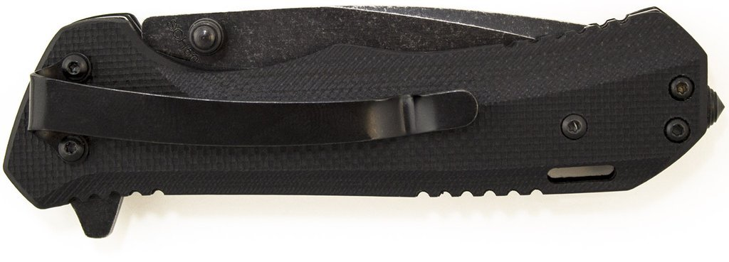 Schrade SCH501S Liner Lock Folding Knife Partially Serrated Drop Point Blade G-10 Handle
