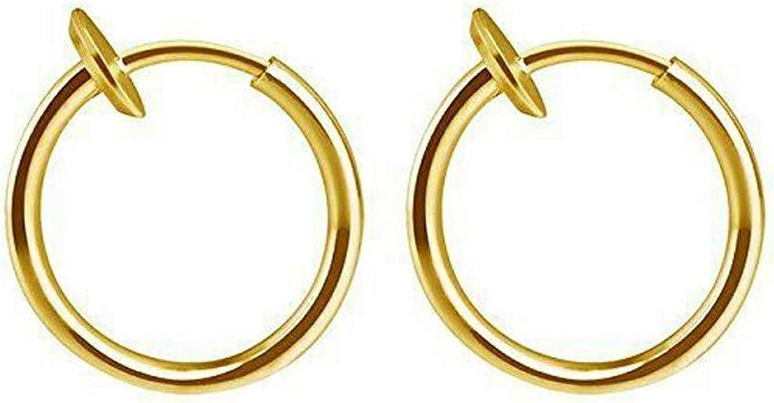 orecchini a clip Orecchini retraibili per uomo e donna labbra TINGTING529 stile classico hip-hop finto piercing per naso 1 paio di orecchini a cerchio