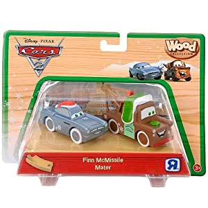 Disney Pixar Cars 2 Wood Collection Finn McMissile Mater