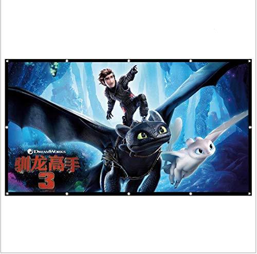 XJJ 150inch 4K Ultra HD Ready Cinema Format Projector Screen (16:9, 150