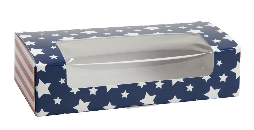 Stars and Stripes Auto Bottom Box (250, 1 lb with window)