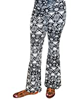 Hybrid & Company Super Comfy Wide Leg Printed Palazzo Pants Made in USA
