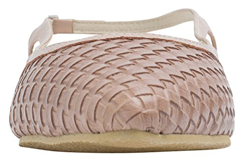 Shoes Sweet Womens Holic Flat Pastel Emboss Slingback Pink Woven anvY6Z5On