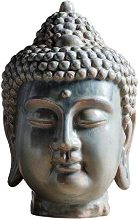 SculpturesQYZ Estatuas para jardín New Chinese Zen Maha Vairocana Statue Buddha Head Decoration Creative Buddha Ceramic Crafts Living Room Porch Decoration R3663: Amazon.es: Hogar