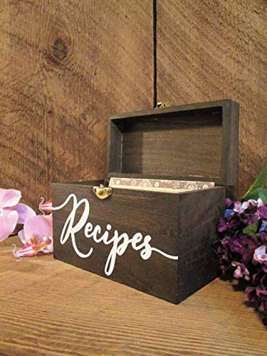 Recipe box, HAND PAINTED! Great for bridal shower & wedding gifts!