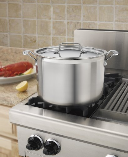 Cuisinart MCP66-28N MultiClad Pro Stainless 12-Quart Stockpot with Cover by Cuisinart (Image #2)