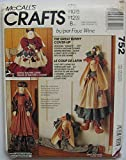 McCall's 752 Crafts Pattern Bunny Sewing Machine Cover, Vacuum Cleaner Cover and Draft Buster