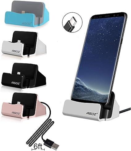 USB Type C Desktop Charger for LG Phone Models Case Compatible Adjustable Charging Stand V20, V30, G7 G8 by Encased
