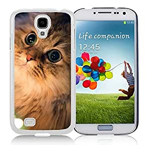 Customized Samsung S4 TPU Protective Skin Cover Christmas Cat White Samsung Galaxy S4 i9500 Case 45