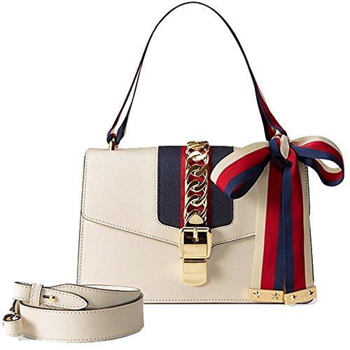 9008 Femme cuir véritable Size sac sac bandoulière Small White Large Size à Macton Red MC bandoulière zadWzR