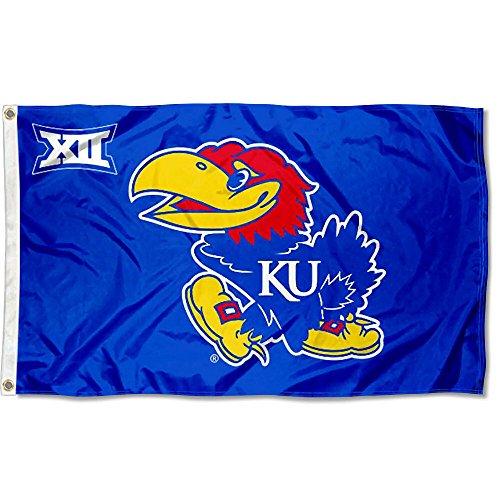 Kansas Jayhawks Big 12 3x5 Flag
