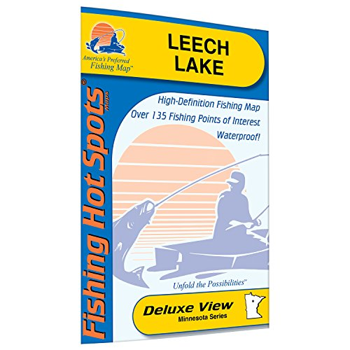 Leech Lake Fishing Map by Fishing Hot Spots