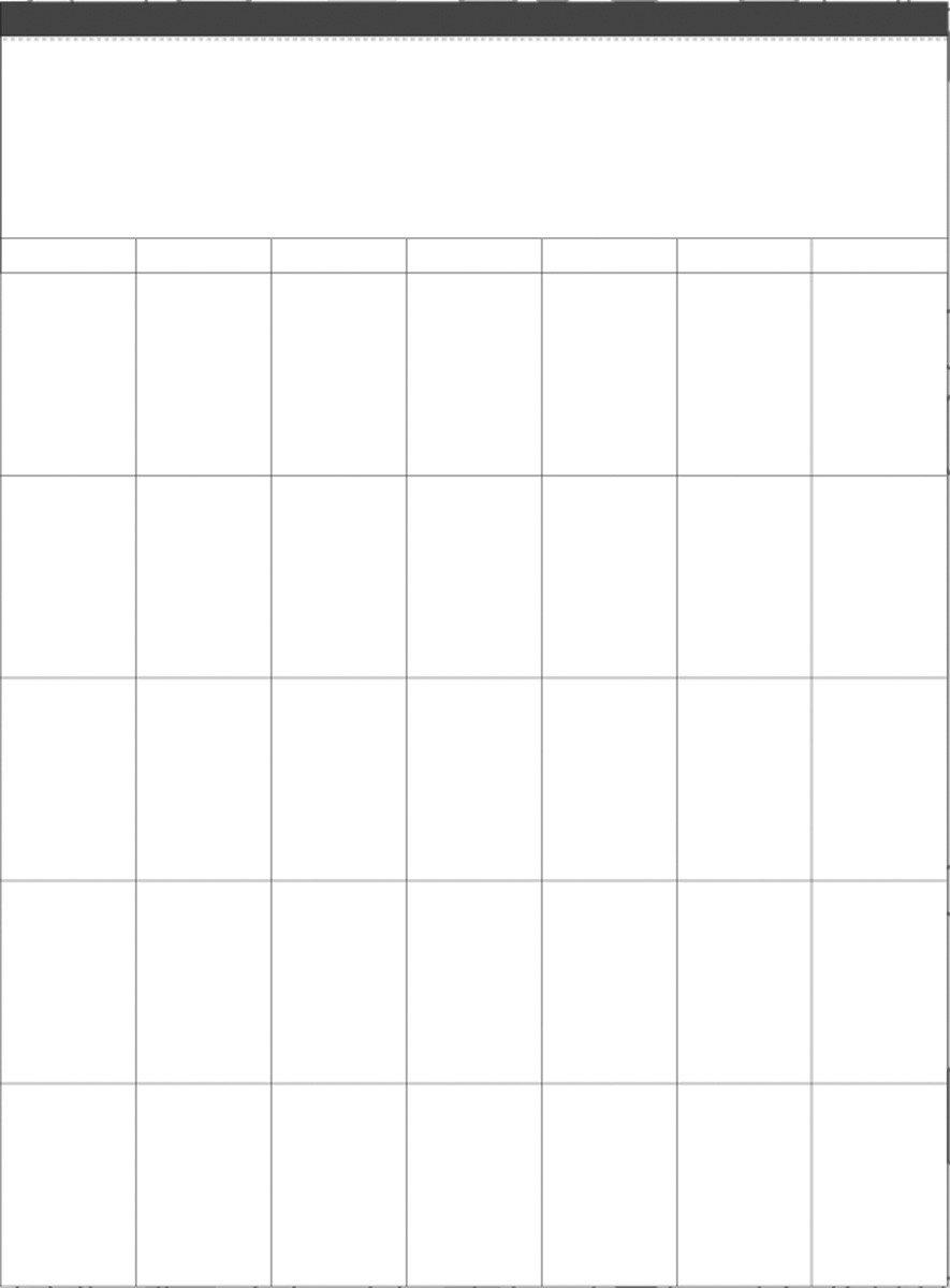 Karen Foster Design Memories and Messages Wall Calendar Grid Refill 02073