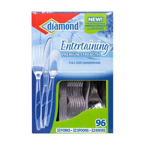 (Diamond, Entertaining Premium Strength Full Size Dinnerware - 96 ea )