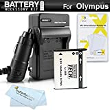 Battery And Charger Kit For Olympus Stylus SZ-15 SZ-16 iHS, TG-830 iHS, Tough TG-850 iHS, TG-860, TG-870 Digital Camera Includes Extended Replacement (1000Mah) LI-50B Battery + Ac/Dc Charger + More