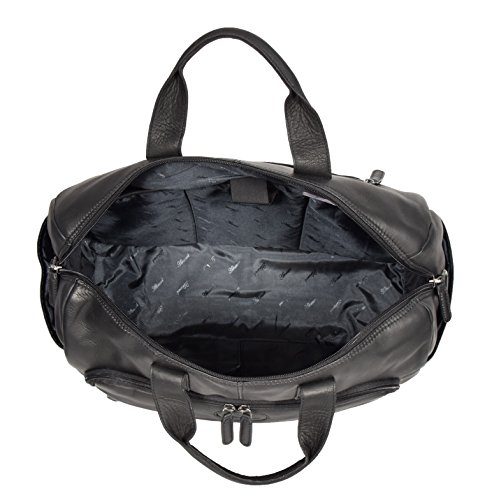 Black Real Leather Holdall Weekend Bag Business Travel Overnight Gym Bag Manila by A1 FASHION GOODS (Image #5)